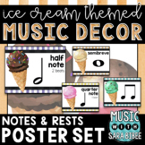 Music Decor: Ice Cream-Themed Notes and Rests Posters