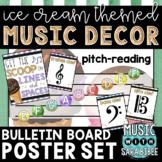 Music Decor: Ice Cream-Themed Pitch-Reading Bulletin Board