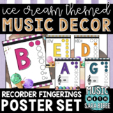 Music Decor: Ice Cream-Themed Recorder Fingering Posters