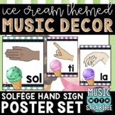 Music Decor: Ice Cream-Themed Solfege Hand Signs Posters
