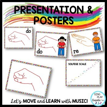 Music Decor Kodaly Solfa, Solfege Posters and Games in Primary Colors