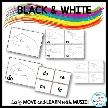 Music Decor Solfege Posters, Games and Flashcards: K-6 Music Classes