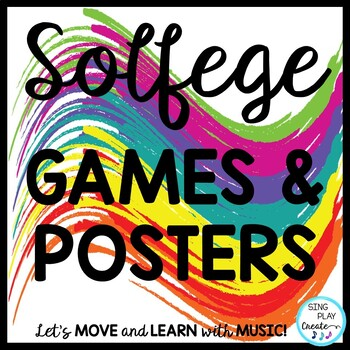 Music Decor Kodaly Solfege Posters and Games in Primary Colors