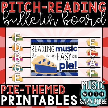 Music Decor: Learning Music Is As Easy As Pie! {Pitch Reading Bulletin Board}