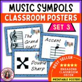 Music Classroom Decor Set: Music Symbols Posters Set 3: Music Vocabulary