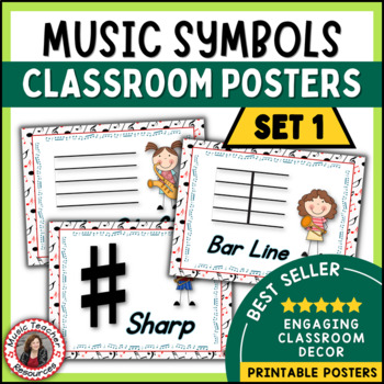 Music Classroom Decor Set: Music Symbols Set 1