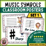 Music Vocabulary: Music Classroom Decor Kit: Music Symbols Set 1