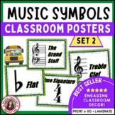 Music Classroom Decor:  Music Symbols Set 2:  Music Posters