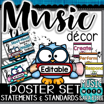 Music Decor: Owl-Themed Music Statements and Standards