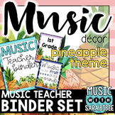 Music Decor: Pineapple-Themed Music Teacher Binder Sheets