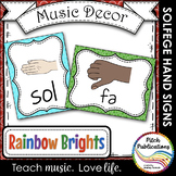 Music Decor - RAINBOW BRIGHTS - Curwen Solfege Hand Signs,