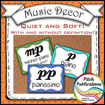 Music Decor - RAINBOW BRIGHTS - Dynamics Posters (Elements of Music)