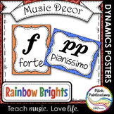 Music Decor - RAINBOW BRIGHTS - Dynamics Posters (Elements