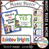 Music Decor - RAINBOW BRIGHTS - Music Rules Posters, Tattl