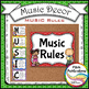 Music Decor - RAINBOW BRIGHTS - Music Rules Posters, Tattl