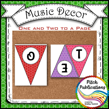 Music Decor - RAINBOW BRIGHTS - Welcome to Music Banner!
