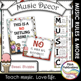 Music Decor - SWEET SHOPPE - Music Rules Posters, Tattling