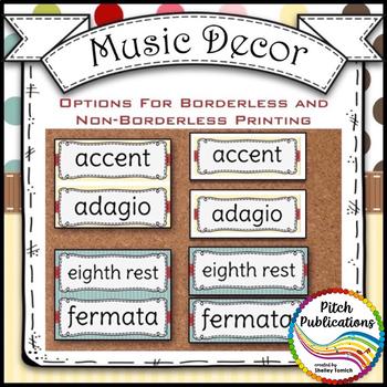 Music Decor - SWEET SHOPPE - Music Word Wall