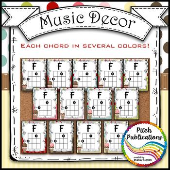 Music Decor - SWEET SHOPPE - Ukulele Posters