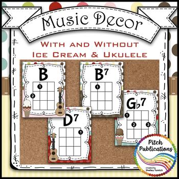 Music Decor - SWEET SHOPPE - Ukulele Posters D TUNING