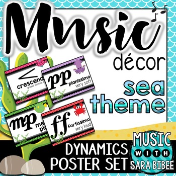 Music Decor: Sea-Themed Dynamics Posters