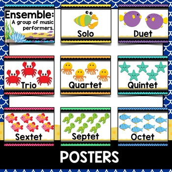 Music Decor: Sea-Themed Ensemble Posters