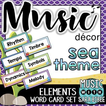 Music Decor: Sea-Themed Music Term Cards