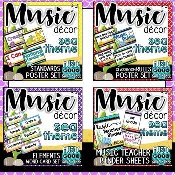 Music Decor: Sea Themed $$$ Saving Bundle