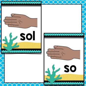 Music Decor: Sea-Themed Solfege Handsign Posters