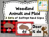 Music Decor- Solfege Hand Signs (Woodland Animals)