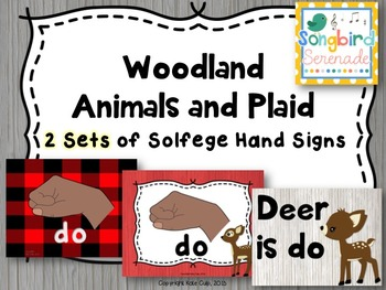 Music Decor- Solfege Hand Signs (Woodland Animals)