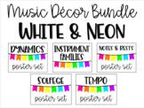 Music Decor - White & Neon Bundle