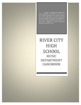 Music Department Handbook for High School Band and Orchestra