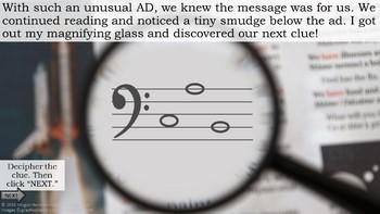 Music Detective 5-game SMART Notebook Bundle - Treble Bass Orchestra Rhythm
