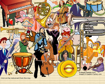 """Instrument Game - Music Detective Series #2 """"Case of the Lost Orchestra"""" PPT/SB*"""