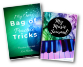 Music Practice Diary 'My Practice Journal' & 'My Bag of Practice Tricks' BUNDLE