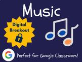 Music - Digital Breakout! (Escape Room, Scavenger Hunt)