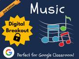 Music - Digital Breakout (Google Classroom, Distance Learn