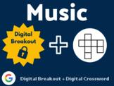 Music Digital Bundle (Digital Breakout, Digital Crossword)