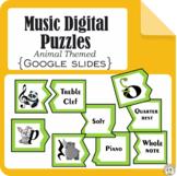 Music Digital Puzzles Animal Themed {Google Slides}