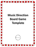 Music Direction Game Board Template