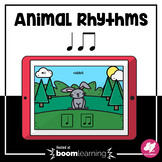 Music Distance Learning: Animal Rhythms - 1 or 2 sounds, T