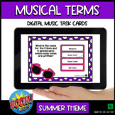 Music Theory BOOM Cards - Music for Google Classroom™ & more- Musical Terms
