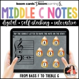Music Distance Learning BOOM Cards: Halloween Middle C Pos