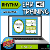 Rhythm Ear Training Level 1A- Interactive Music Theory Boom Cards Game