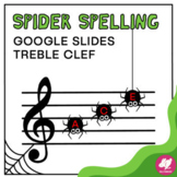 Music Distance Learning: Halloween Spider Treble Clef Note