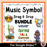 Music Distance Learning   MUSIC SYMBOLS Drag and Drop  Activities BUNDLE