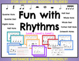 Music Distance Learning: RHYTHM Practice ∫ Google™ Slides