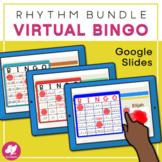 Music Bingo RHYTHM BUNDLE - GOOGLE SLIDES for Music Distan