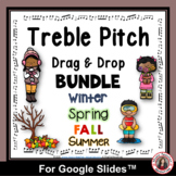 Music Distance Learning   TREBLE PITCH Drag and Drop  Activities BUNDLE
